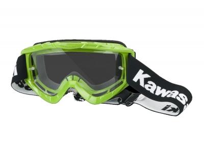 Kawasaki Crossbrille MX Kawa grün