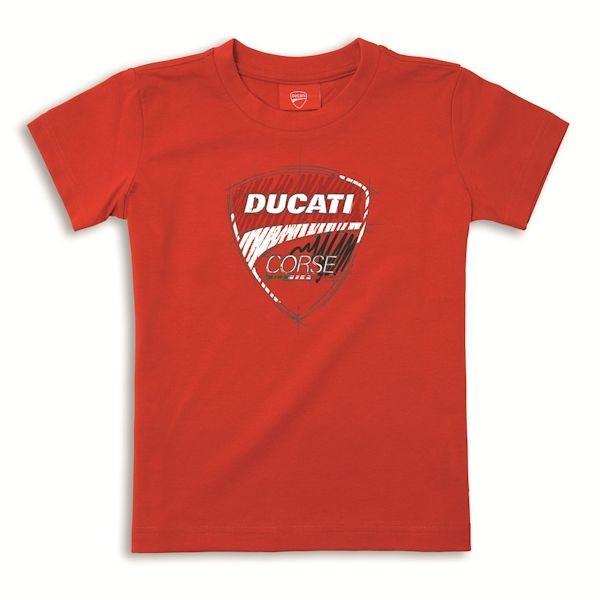 Ducati 98769640 Kinder T-Shirt Sketch rot_1