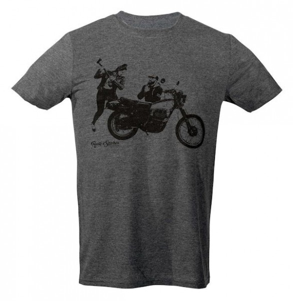 Rusty Stitches T-Shirt Charlie Herren grau_1
