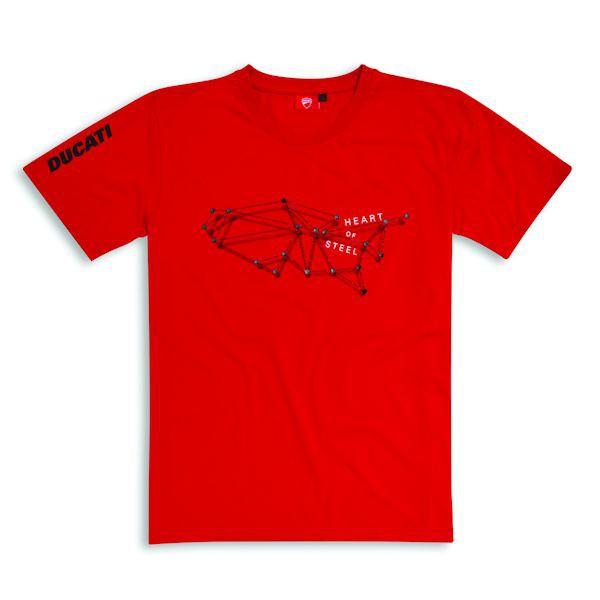 Ducati 98769793 T-Shirt Steel Heart rot_1