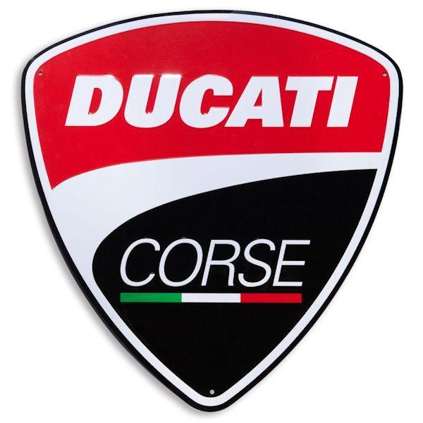 Ducati Corse Schild 40x42cm